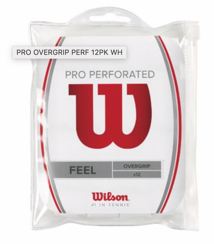 Wilson Pro Perforated Overgrips 12 pack