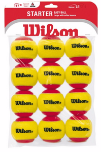 Wilson Starter Red Tennis Ball 12 pack