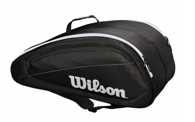 Wilson Federer Team 12 pack BLACK/WHITE