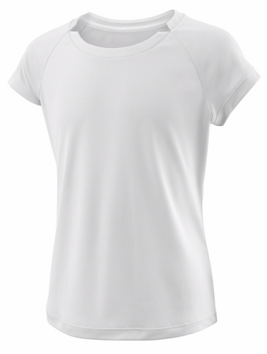 Wilson Girl's Cap Sleeve white