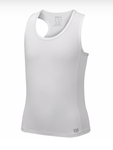 Wilson Girl's Core Tank - White
