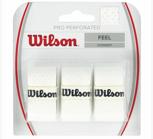 Wilson Pro Perforated Overgrip 3 Pack White