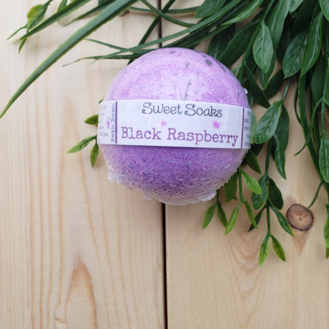 Black Raspberry Bath Bomb