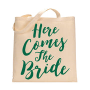 Here Comes The Bride Tote Bag in Kelly