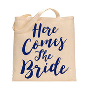 Here Comes The Bride Tote Bag in Royal Blue