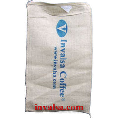"Bushel-Size (18"" X 30"") Burlap Coffee Bag Holds 60-70lbs Plus free coffee sample"