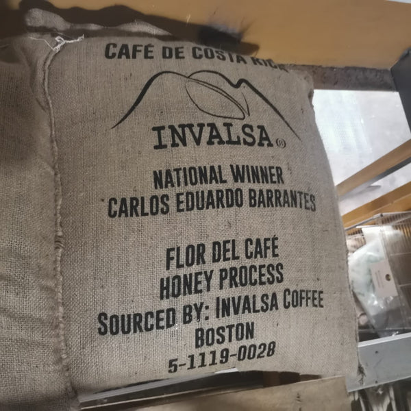 Cup of Excellence: 2020 Costa Rica National Winner Flor del Cafe -Carlos Barantes Microlot Roast. NEW ARRIVAL!