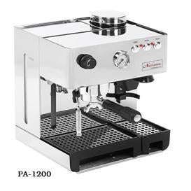 La Pavoni: Stainless Steel Napolitana PA-1200, with built-in coffee grinder and free 10 oz. Espresso blend coffee sample