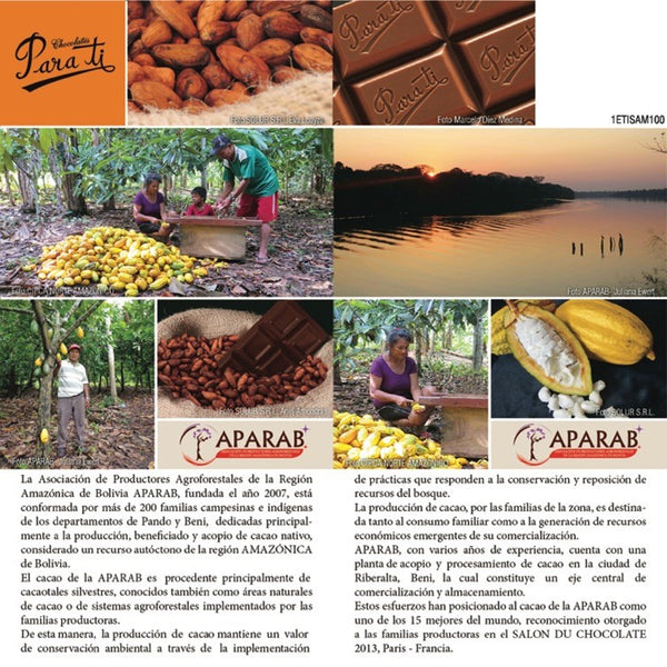 Chocolates Para Ti -100% Bolivian cacao and Bolivian-made chocolates.