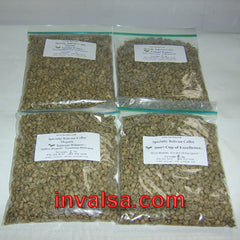 Bolivia/Colombia Micro Lots Sampler Pack 2E: Four one-pound green coffees