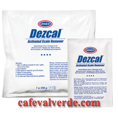 Urnex: 4 x 1 oz packets Dezcal Activated Scale Remover. Use on SAECO machines