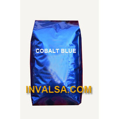 10 Foil Gusseted Bags with Valve (Cobalt Blue) 5-6 lbs.