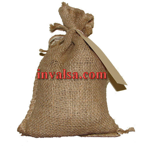 "Petite (6""x10"") Burlap Bag Holds 1-1.5 lbs. Plus free coffee sample."