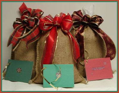 Gift-wrapped Coffee Sampler: Three Bags of Microlot Coffees. Free Shipping to all 50 states