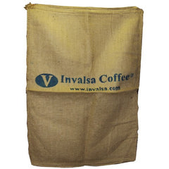 "Very Large (27"" X 38"") Genuine New Burlap Coffee Bag. Holds 150-160 lbs + free coffee sample"