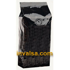 10 Foil Gusseted Bags with Valve (Glossy Black) 2 - 2.5 lbs.