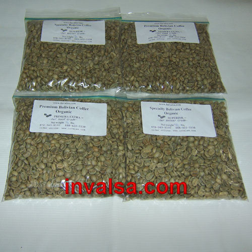 Latin American Production Coffees Sampler Pack B: Four half-pound green coffees