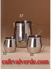 Stainless Steel 12, 18, 32 oz. Frothing Pitchers
