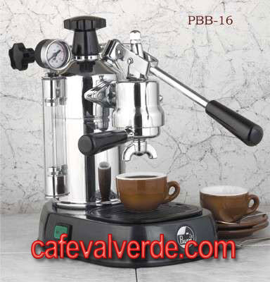 La Pavoni Professional, Chrome/Color Bases, 16 cup capacity