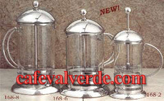 Pyrex 2/6/8-cups Stainless Steel Coffee or Tea Press Pots