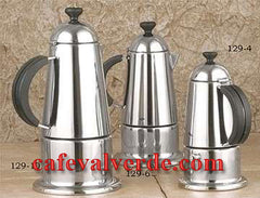 Polished Stainless Steel Stove Top Espresso Maker
