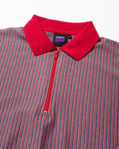 Birdseye Vertical Stripe Knit Red