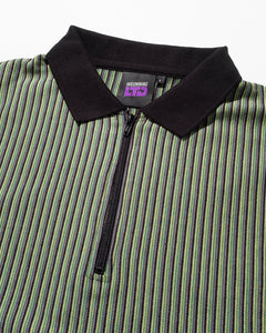 Birdseye Vertical Stripe Knit Green