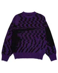 Glitch Sweater Purple