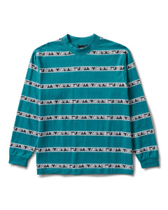 Eye Stripe Long Sleeve Tee Jade