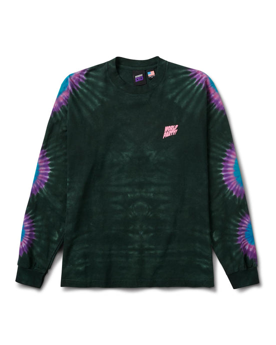 World Sunburst Tie Dye L/S Tee Green