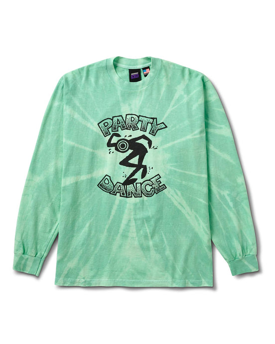 Party Dance L/S Tee Blue Tie Dye