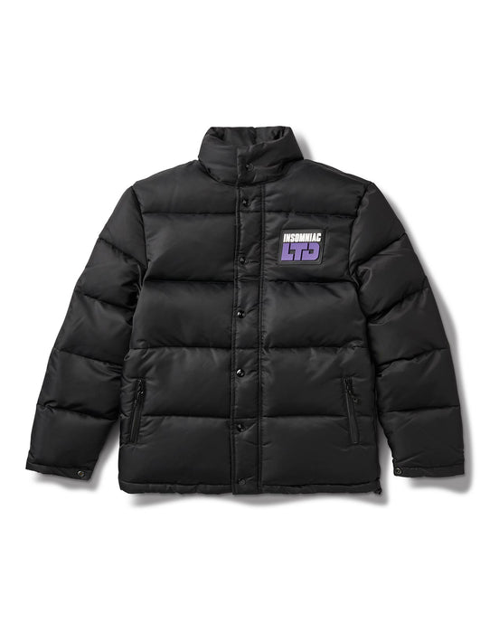 Crystal Puffer Jacket Black