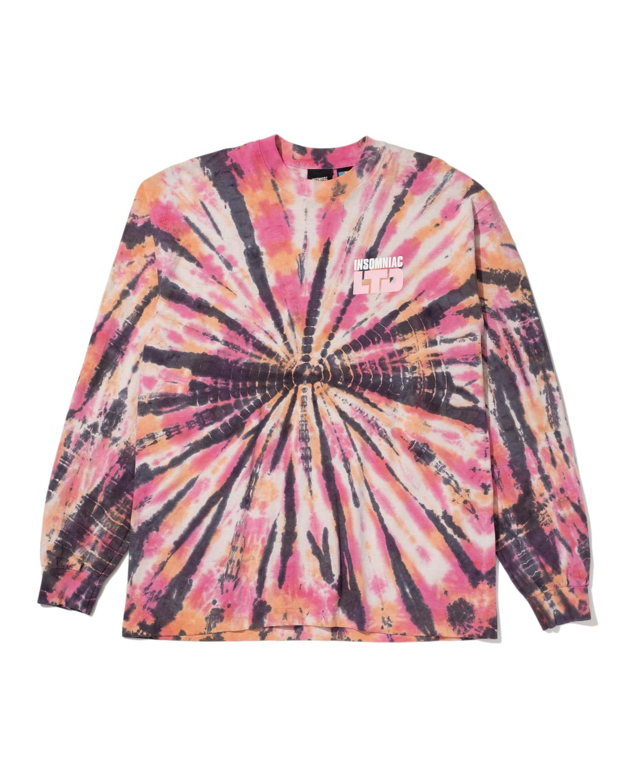 Full BK Tie Dye L/S Tee Red