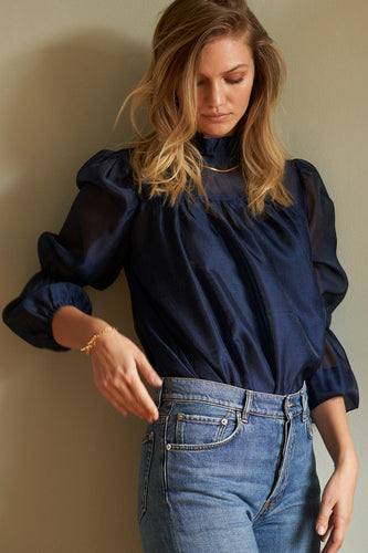 Palma Blouse - Navy