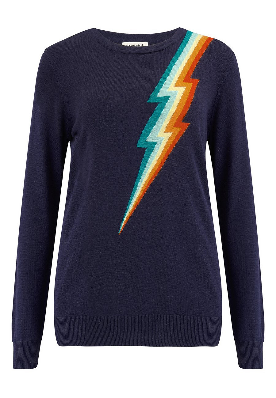 Load image into Gallery viewer, Rita Rainbow Flash Sweater
