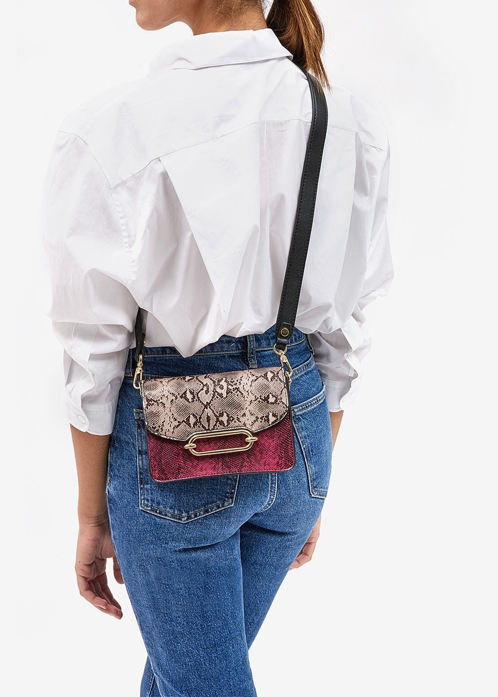 Load image into Gallery viewer, Pink Python Bag