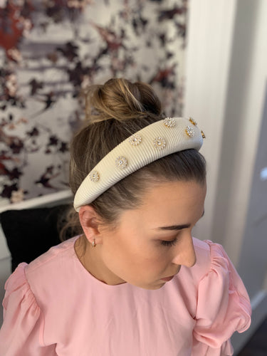 Edina Hairband Ivory