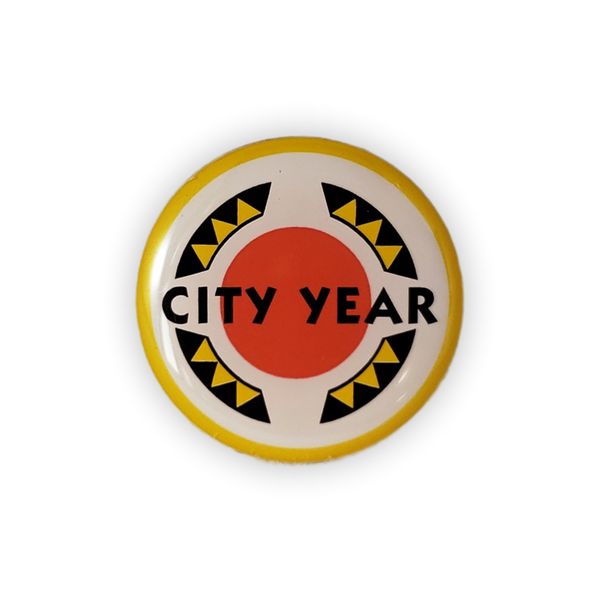 City Year Offset Printed Lapel Pin