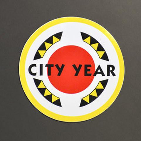 City Year Logo Vinyl Stickers