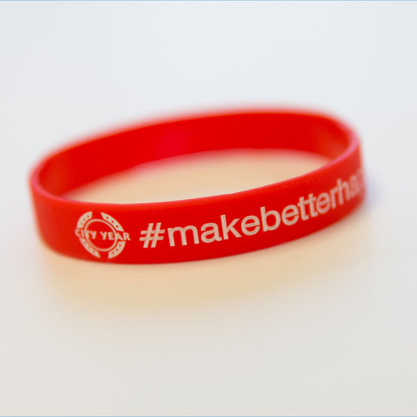 #makebetterhappen Wristband