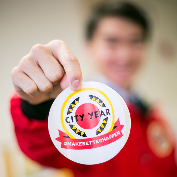 City Year Static Cling Decal