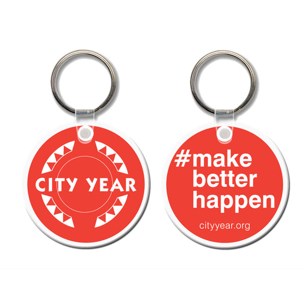 City year - #makebetterhappen - Keychain
