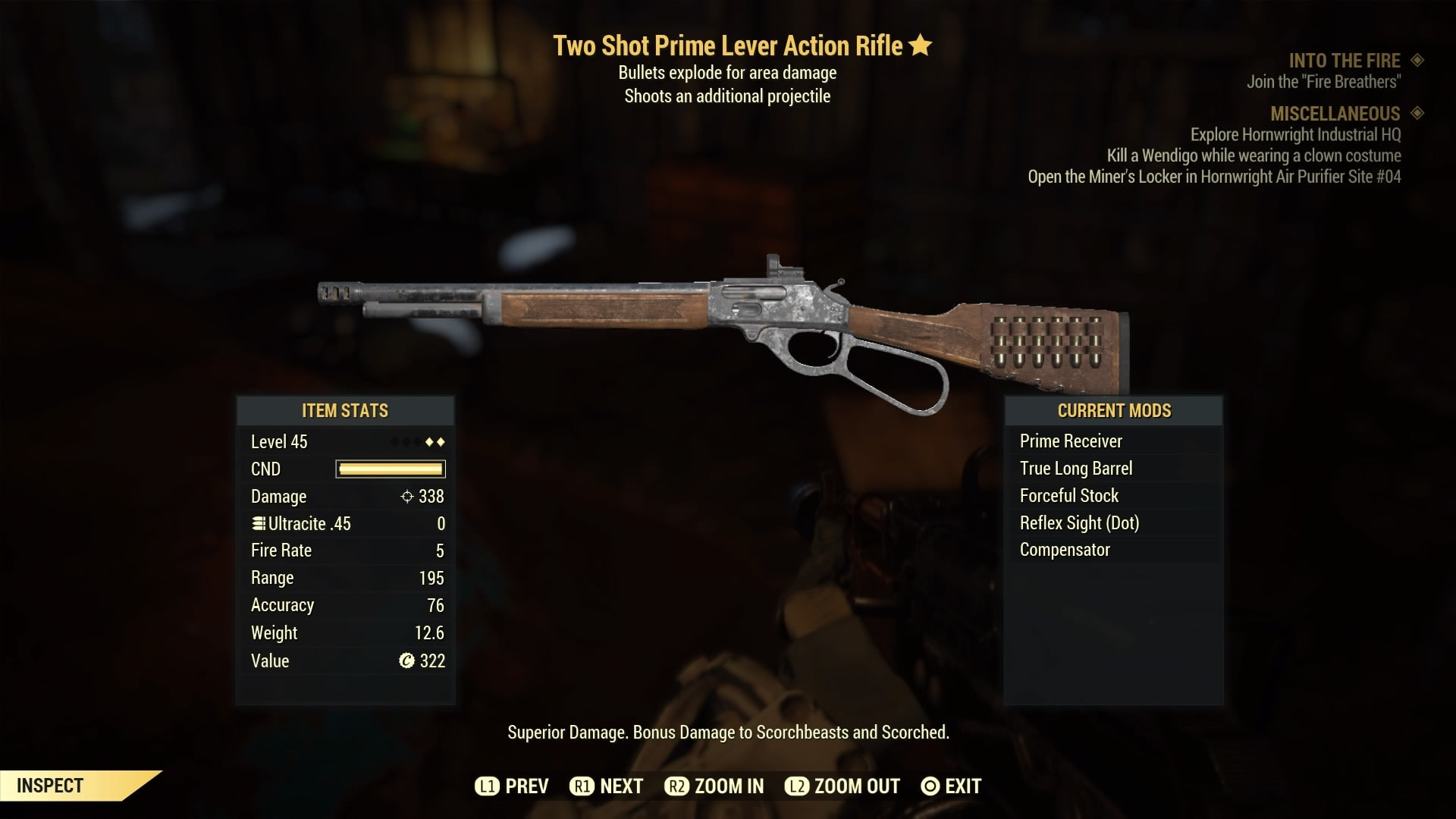 Fallout 76 PS4 Two Shot Explosive Weapons Pack 5 Weapons