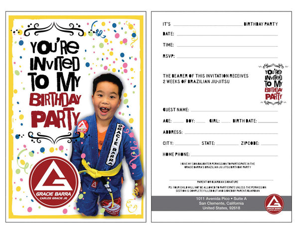 Gracie Barra Birthday Flyer