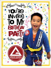 Gracie Barra Birthday Poster
