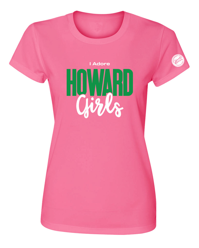 """I Adore Howard Girls"" Women's Pink T-Shirts"