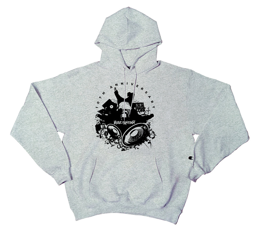 10th Anniversary Music Fan First Men's Pullover Hoodie