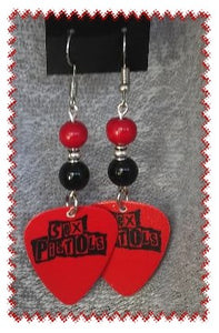Earrings-guitar pick