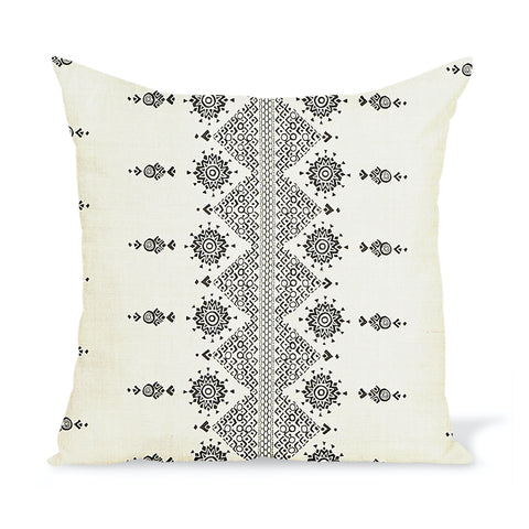 Peter Dunham Textiles Carmania in Black on Natural Pillow