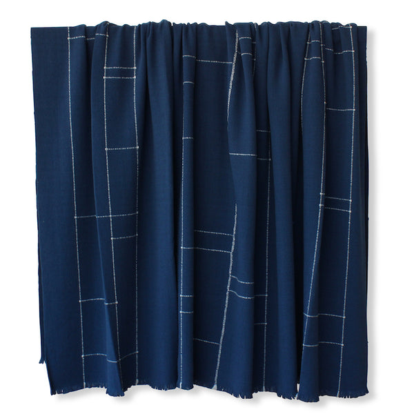 Avenida in Indigo Bedcover & Throw